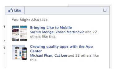 Facebook-Empfehlungsleiste