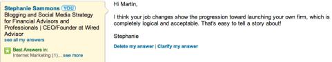 Beantwortung von Linkedin-Fragen