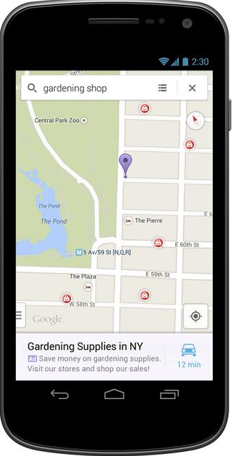 Google Maps-Anzeigen