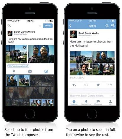 vier Fotos in einem Tweet