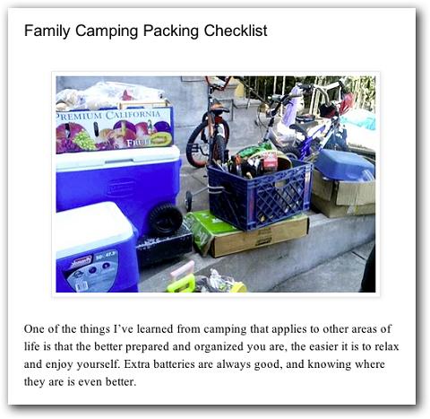Beispiel eines Checklisten-Blogposts