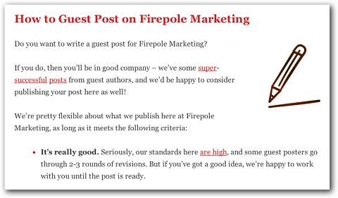 Beispiel für Richtlinien zum Bloggen von Gästen