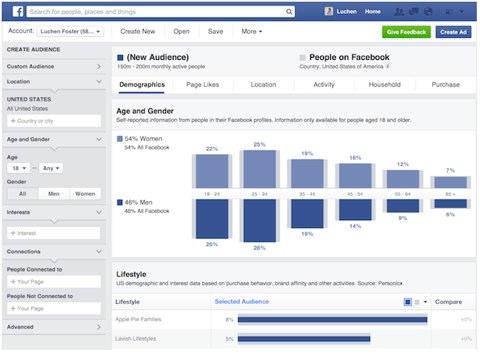 Facebook Publikum Insights Tool