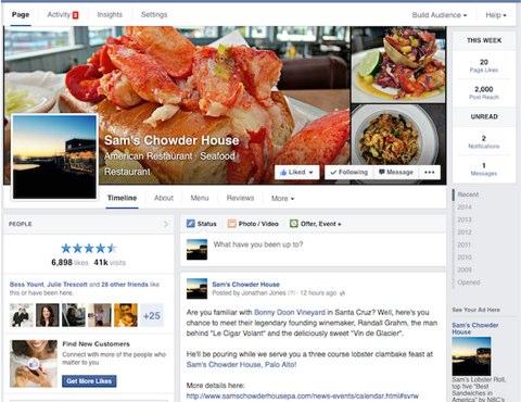Facebook Update Design weltweit