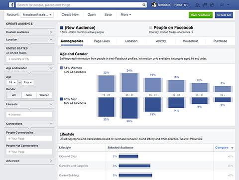 Facebook Publikum Einblicke Dashboard