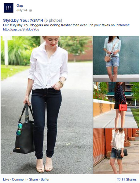 gap pinterest link on facebook