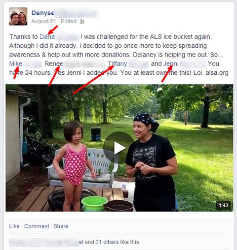 als Herausforderung Facebook-Update