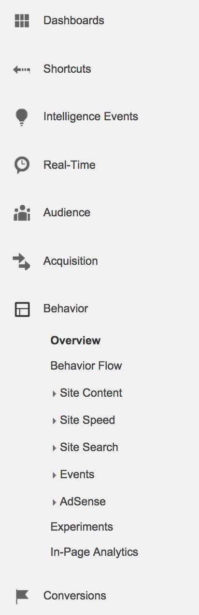 Behavior report sub-section