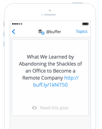 Daily by Buffer is a simple way to discover and share great content.