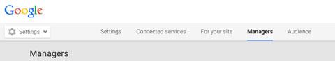 Registerkarte Google Plus Manager