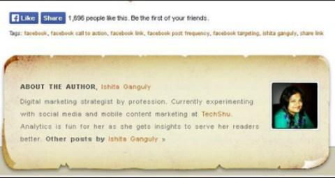Twitter URL in Autor Bio