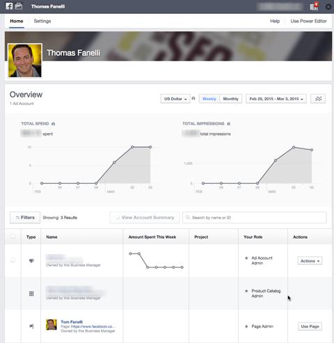 Facebook Business Manager Übersicht