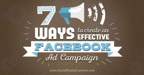 Erstellen Sie effektive Facebook-Werbekampagnen