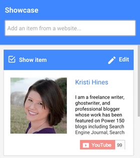 Präsentation von Website-Bio-Artikeln auf Google + Hangouts