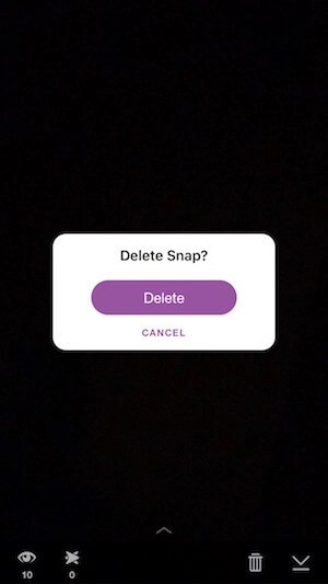 delete an image or video from your story