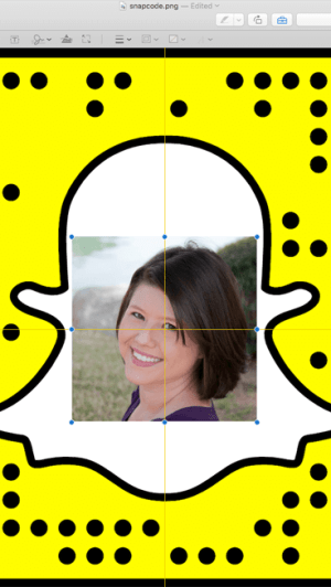 edit your snapcode in mac preview