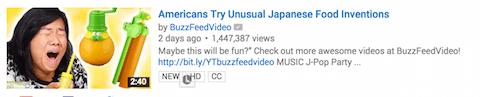 Buzzfeed-Video bei der Suche