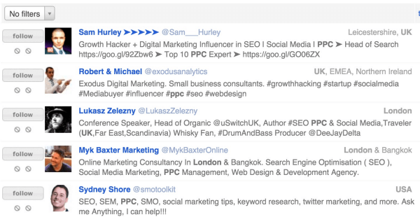 influencers from followerwonk