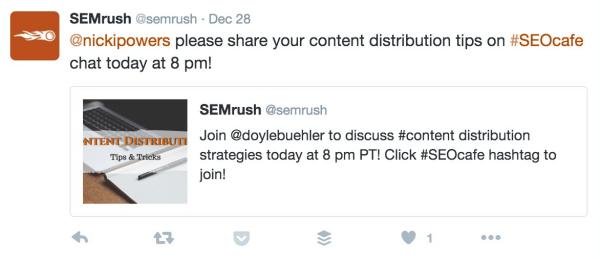 semrush chat invite