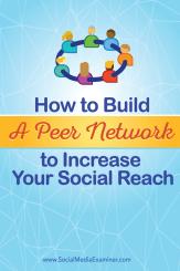 Aufbau eines sozialen Peer-Netzwerks für mehr Reichweite