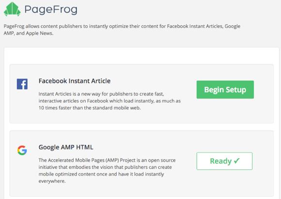 Einstellungen für das PageFrog-Plugin