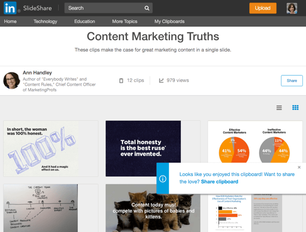 slideshare curation hack