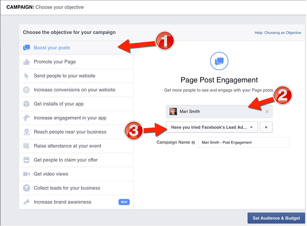 facebook boost carousel post