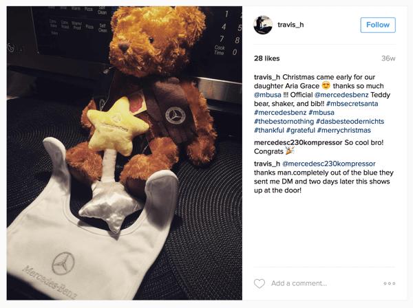 mercedes benz instagram gift