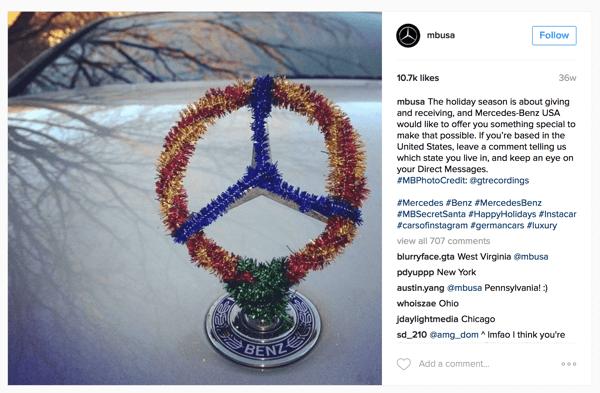 mercedes benz instagram giveaway