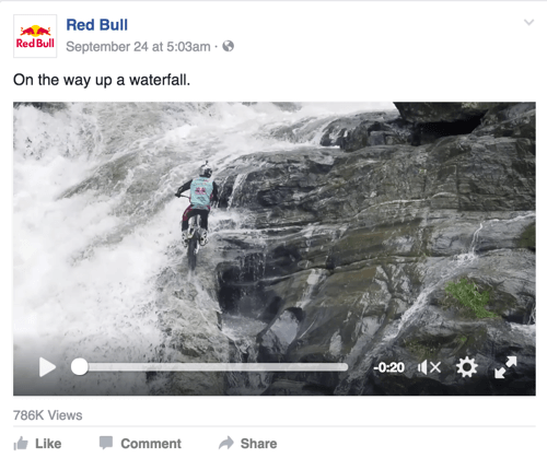 red bull facebook post