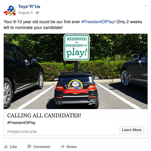toys r us facebook post
