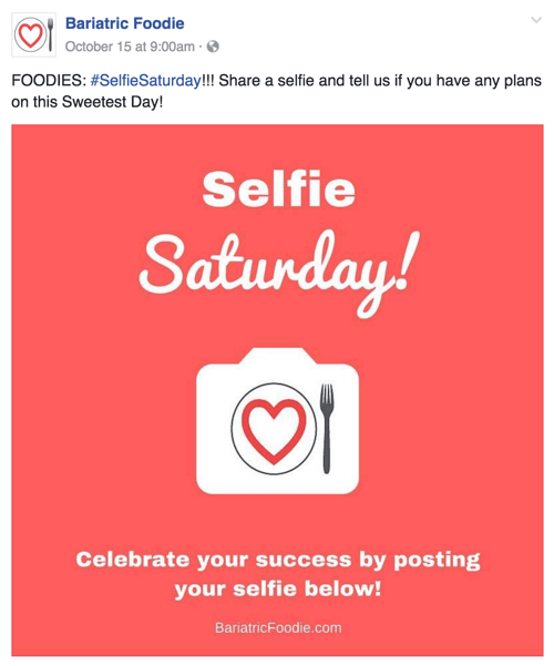 selfie saturday social post example