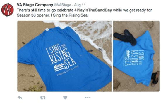 unusual holiday social post example