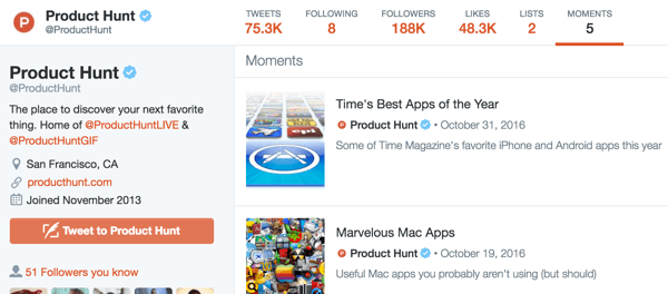 You'll find your Twitter moments on the Moments tab of your profile.