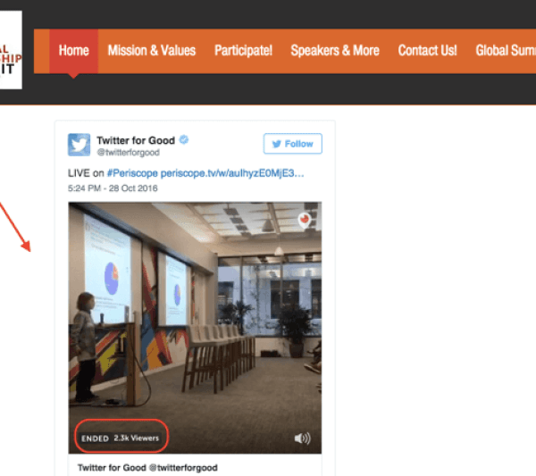 You can also embed a Periscope stream on your website.