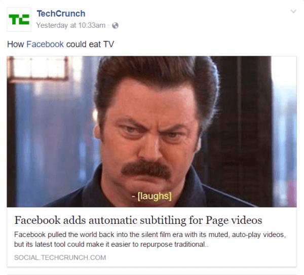 Facebook erweitert die automatische Untertitelung von Videos auf US-amerikanische Facebook-Seiten in englischer Sprache.