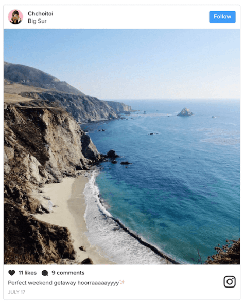 Instagram rolled out a cleaner, more streamlined look to its web embed feature.