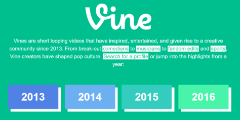 Twitter quietly rolled out a Vine Archive from 2013 through 2016 on the Vine site.