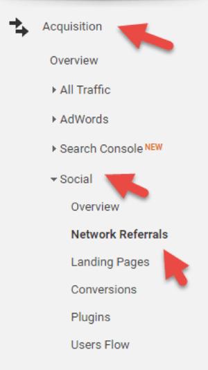 Analysieren Sie soziale Empfehlungen mit Google Analytics.