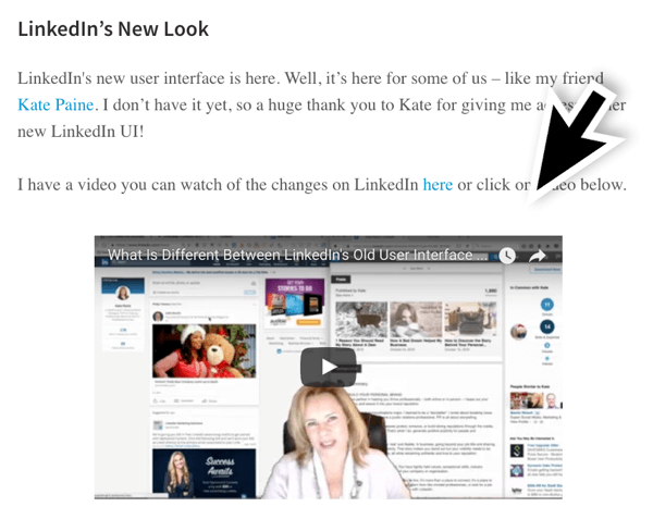 Make sure you include at least 400 words of text when you do video posts on LinkedIn Publisher.