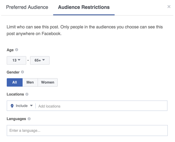 You can also narrow the visibility of your Facebook post.