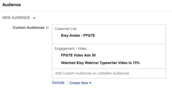 Seleccione su audiencia a medida Facebook y establecer su presupuesto.