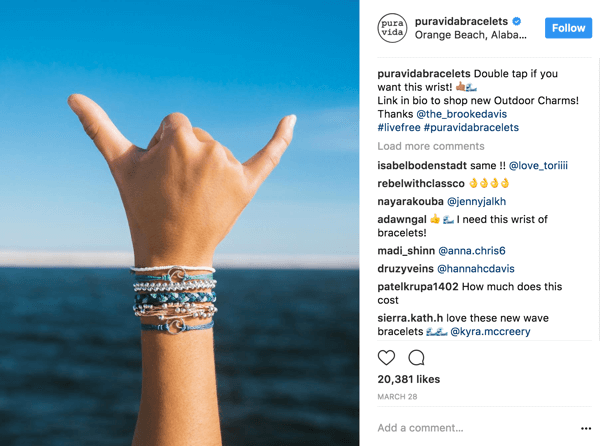 With content creators whose audiences are fewer than 50K, Pura Vida trades 'product for photos' to leverage micro-influencers.