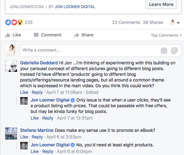 Take a look at the types of comments your competitors' posts are getting and how they're responding.