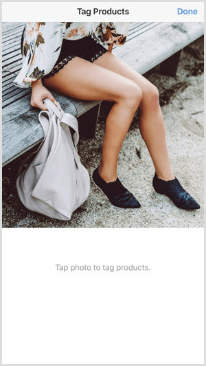 instagram shoppable post tag products tap location