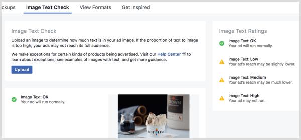 Tool zur Überprüfung von Facebook-Bildtexten