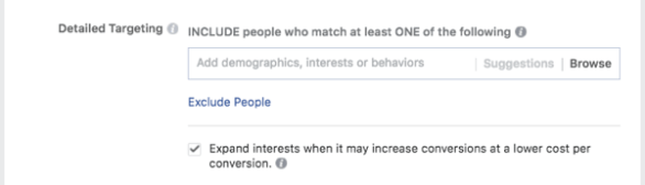 Use Facebook's inclusions and exclusions to fine-tune your audiences.
