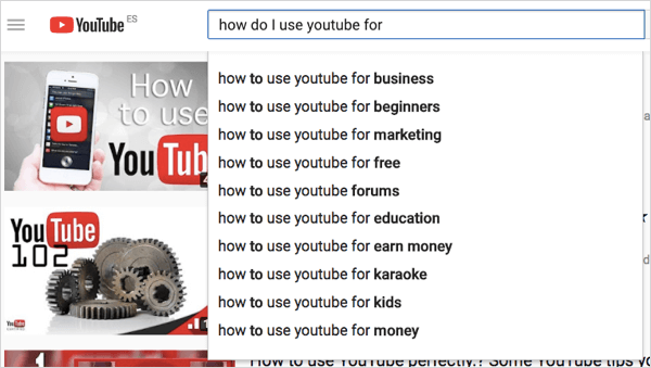 youtube search terms