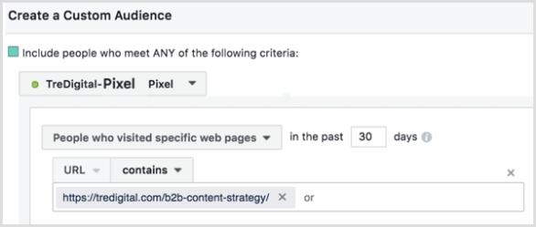 Facebook custom audience based on pixel