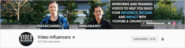 Video Influencers é um canal que produz entrevistas semanais.